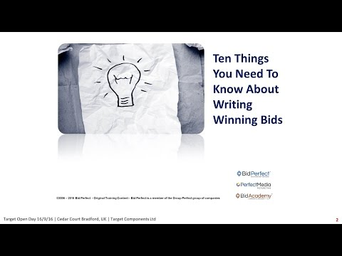 10 Things About Writing Winning Bids