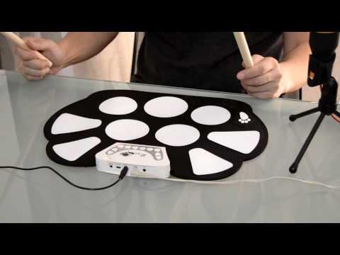 Roll Up Electronic Drum Pad W758M Unboxing e Review | Bateria para iniciantes por menos de 30€
