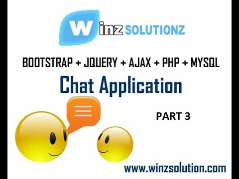 Part 3: Chat Application With Bootstrap JQuery Ajax PHP MySQL