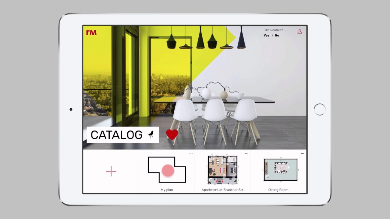 02 Create New Floor Plan With Basic Shapes With Roomle App For Ipad Youtube