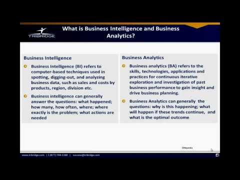 Business Intelligence and Business Analytics Defined