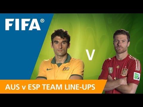 Australia v. Spain - Teams announcement