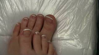 French pedicure, french nails