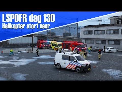 GTA 5 lspdfr dag 130 - Helikopter stort neer! dienst in een nieuwe T6!