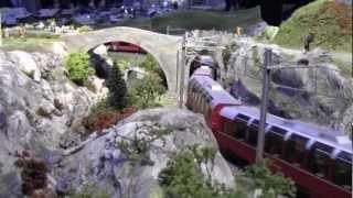 Trains suisses RhB Swiss Trains HOm - GARM - dernière - last - Genève-Cointrin - 24-25 nov 2012