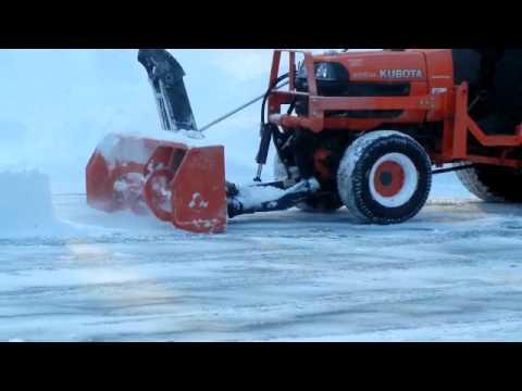 kubota snowblower bx2750 on kubota b7610 compact tractor youtube rh youtube com Kubota BX Snowblower Kubota BX23 Snowblower