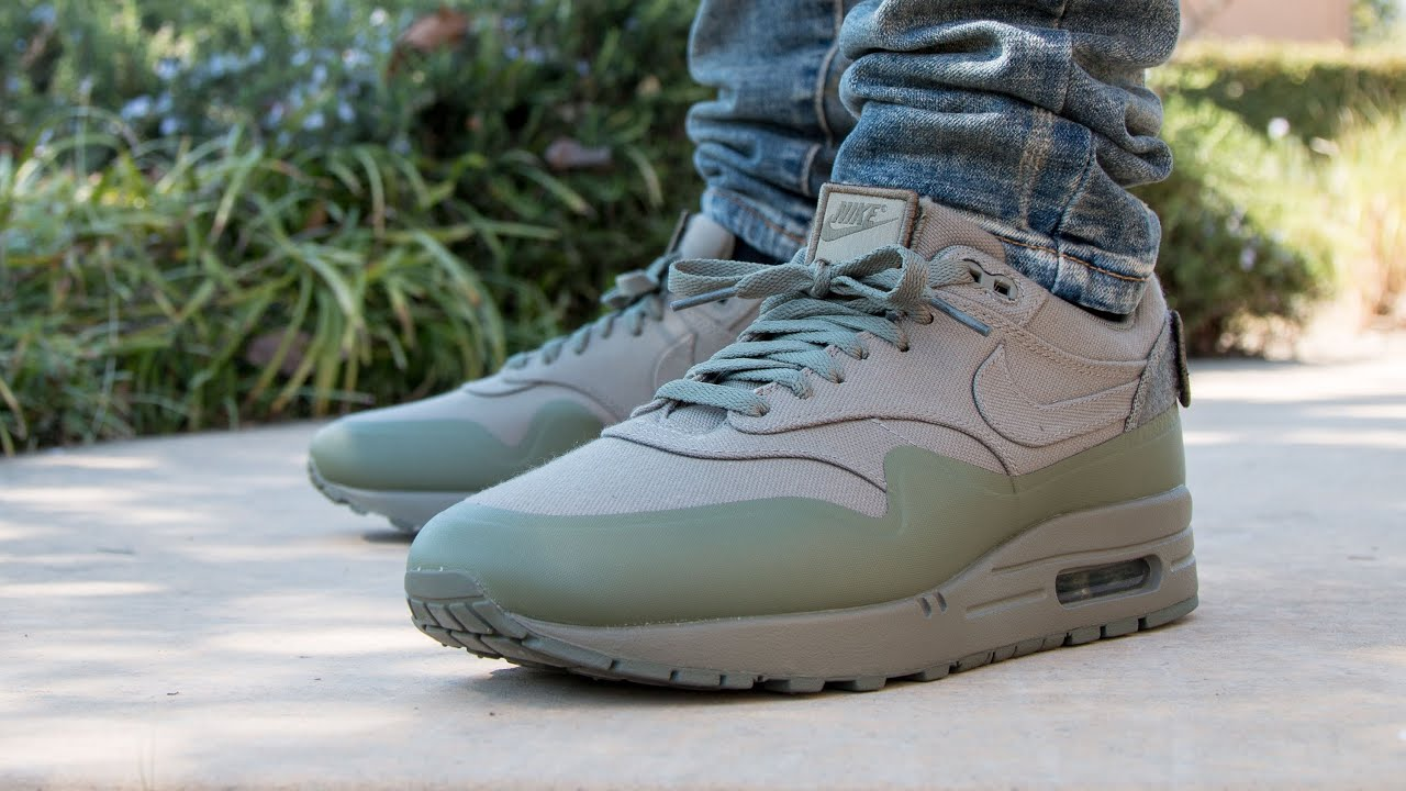 nike air max 1 steel green patch