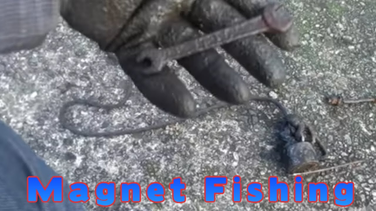 Magnet fishing at an ancient castle guns hammers and much for Magnet fishing finds