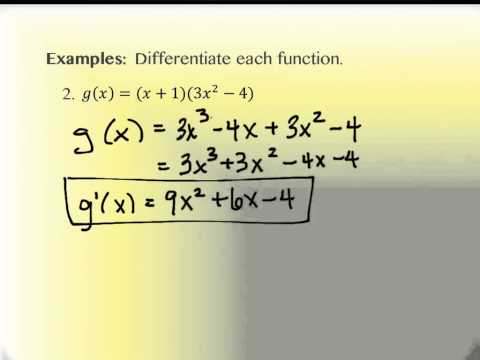 2.3 Computation of Derivatives, The Power Rule (part 1)