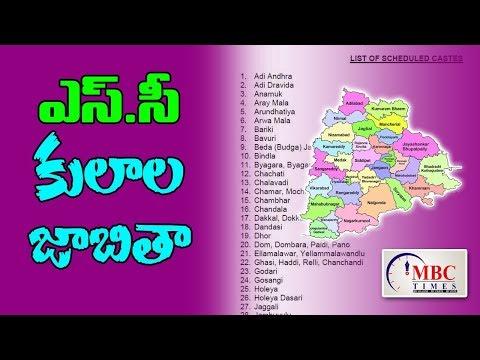 Telangana State SC Caste List | List of Scheduled Castes