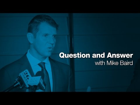 Question and Answer with NSW Premier, Mike Baird