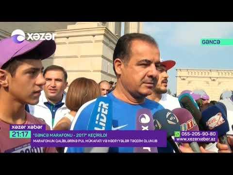 """""""Gəncə marafonu 2017"""" -Xəzər tv"""