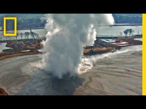 Watch a Mud Volcano That's Been Erupting for 10 Years | National Geographic