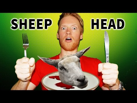 Eating Sheep Head in Iceland