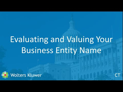 On-demand Webinar: Evaluating and Valuing Your Business Entity Name