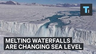 Antarctica's giant waterfalls are changing the sea level