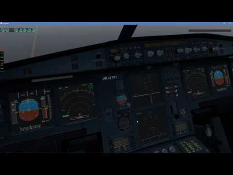 X-Plane 11 | JAR A320 | Amsterdam - London Gatwick (reverser fail overshoot)
