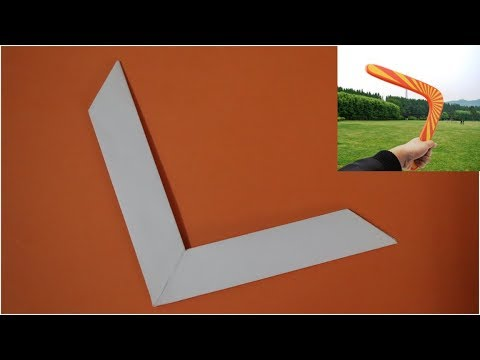 Easy Origami Boomerang | | How to make an easy Paper Boomerang that COME BACK to you|Paper Boomerang