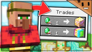 Minecraft, But Villagers Trade Lucky Blocks...
