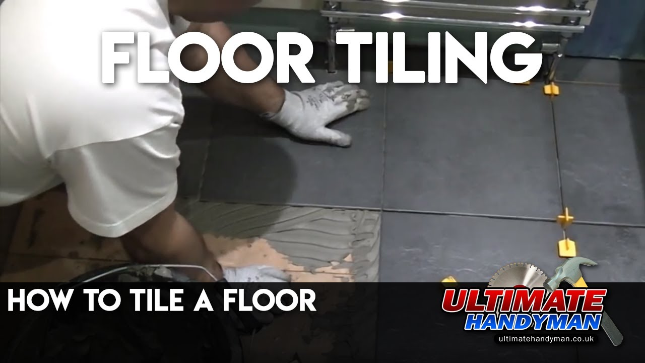 How to tile a floor youtube dailygadgetfo Image collections
