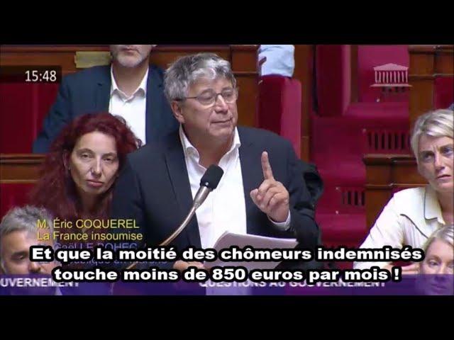 📺 [LA STANDING OVATION DE LA HONTE] Eric Coquerel contre la Ministre du Travail