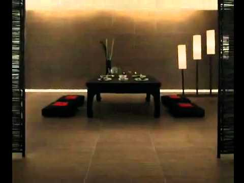 Chocolate Brown Ivory Bamboo Based Wall Floor Tiles Ethno By