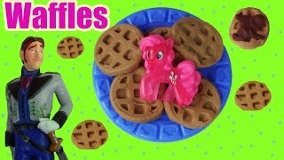 MLP Pinkie Pie Play Doh Waffle Breakfast Truck Disney Frozen Prince Hans Doll Toy Part 2