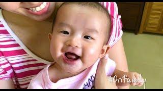 Em bé cười sảng khoái thành tiếng giòn tan - Ori 4 tháng tuổi | Ori Family