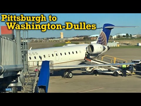 Full Flight: United Express CRJ-700 Pittsburgh to Washington