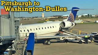 Full Flight: United Express CRJ-700 Pittsburgh to Washington-Dulles (PIT-IAD)