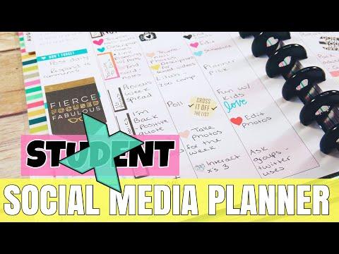 HAPPY PLANNER SOCIAL MEDIA PLANNER SETUP + FLIP THROUGH | YOUTUBE + BLOGS + INSTAGRAM