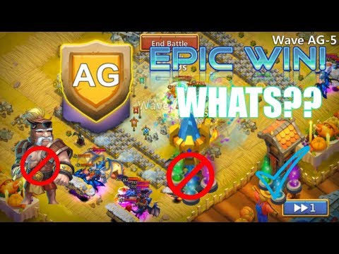 EPIC WIN! AG Without Magic Towers And Troops WOW! Castle Clash