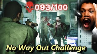 1 MAN VS 100 ZOMBIES CHALLENGE!! (INSANE ENDING) | Ghost Survivors DLC #2 (No Way Out)