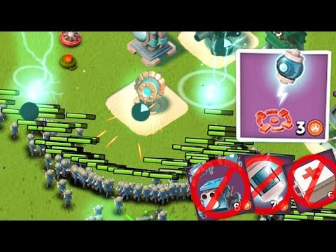 ATTACKING USING ONLY THE TINY SHOCK IN BOOM BEACH!