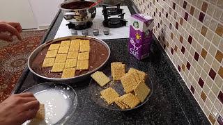 Bisküvili Çikolatalı Pasta Nasıl Yapılır?- Pudingli Yaş Pasta Tarifi - Pasta Tarifleri Mozaik Pasta