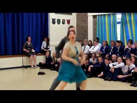 Bishopsgarth School - Dancing with staff 2015