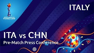 ITA v. CHN - Italy Pre-Match Press Conference