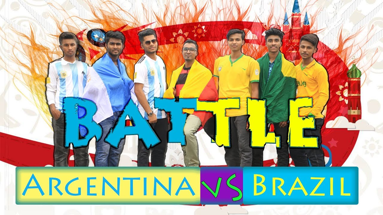 Argentina VS Brazil Battle | আর্জেন্টিনা বনাম ব্রাজিল | FIFA World Cup 2018 | by Deshi Friendz Ltd.