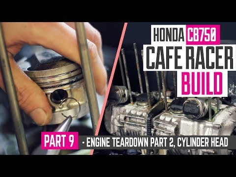 Honda CB750 Cafe Racer Part 9 - Engine part 2, removing the cylinder head & pistons