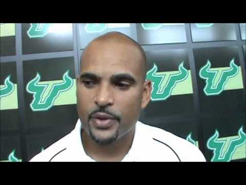 USF WR Coach Pathon talks about his unit heading into Rutgers game