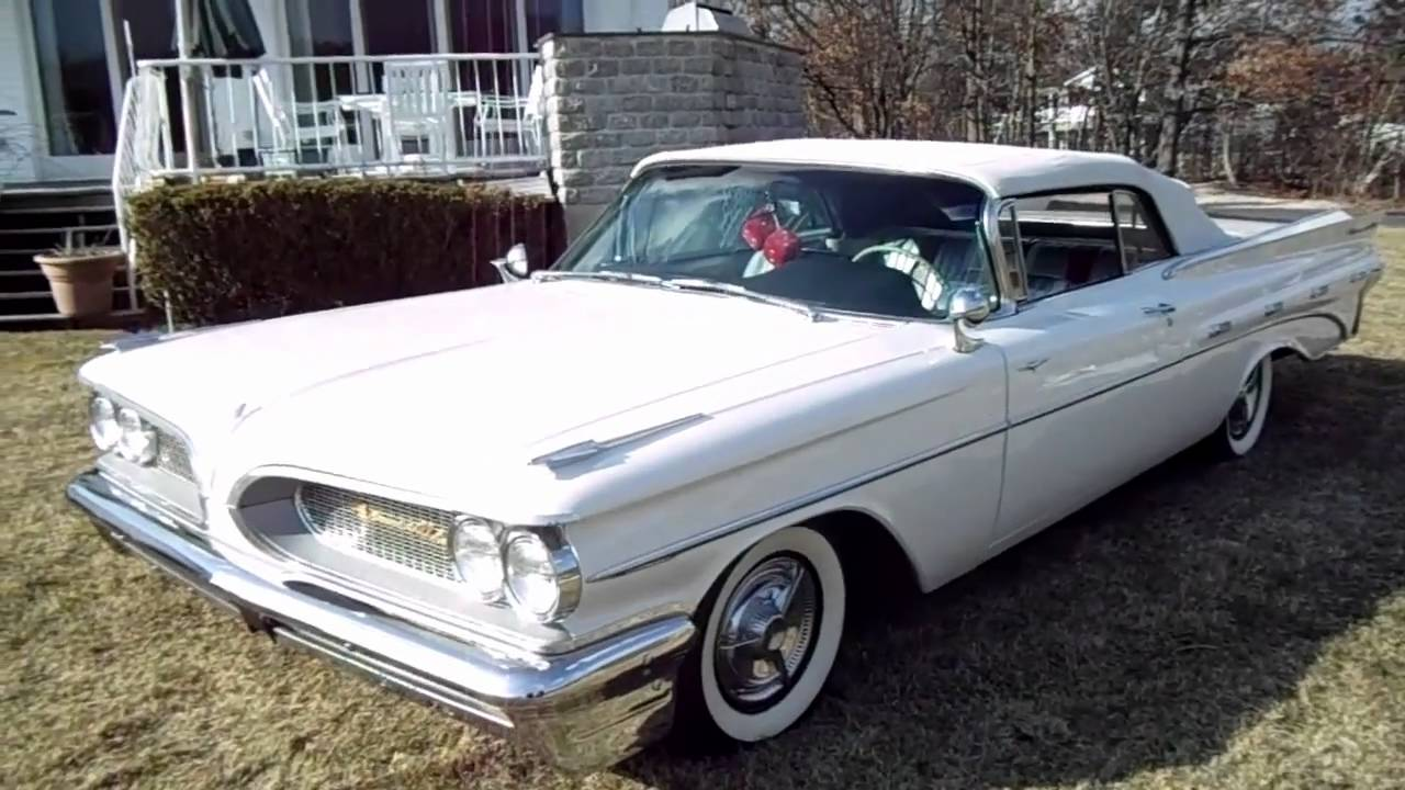 Review of a restored 1959 pontiac bonneville convertible for sale youtube