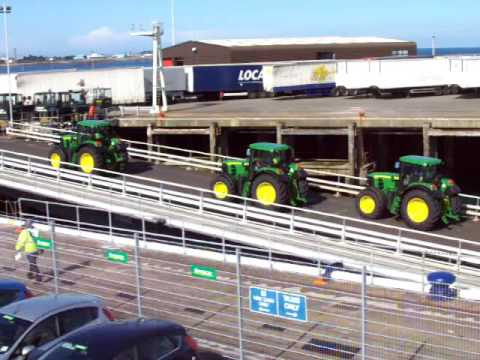 Lagan Tractors Arriving Into Guernsey