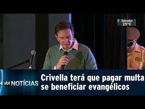 Crivella será multado em R$ 50 mil se voltar a privilegiar evangélicos   SBT Notícias (11/08/18)