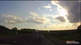 На трассе «М-5 Урал – Москва - Челябинск» столкнулись автомобили «ГАЗ», «Мерседес», «ВАЗ» и «Киа»(, 2016-05-31T11:00:22.000Z)