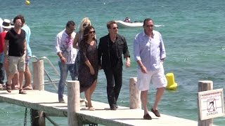 U2's singer Bono and Julian Lennon at club 55 in Saint Tropez