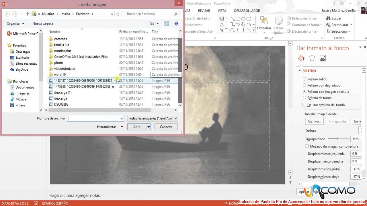 c u00f3mo poner una imagen de fondo en powerpoint 2013