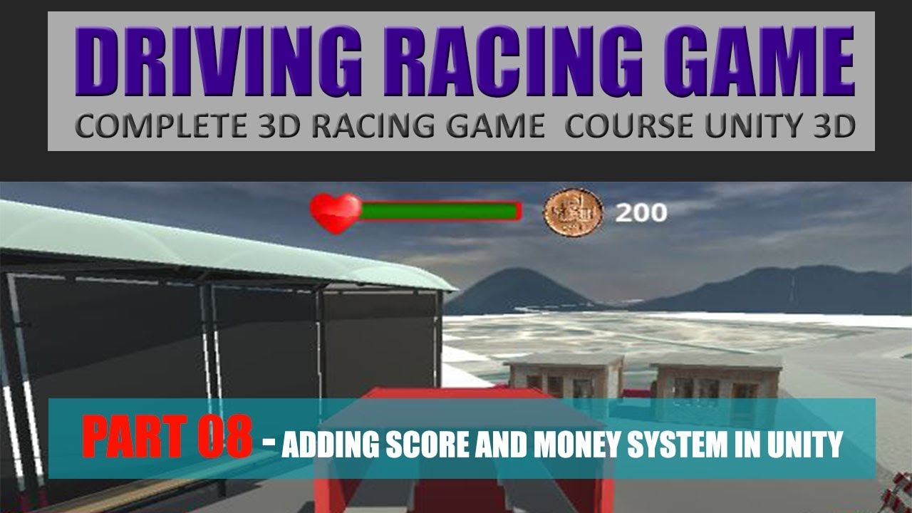 How To Create Scores Money Collection | Building Advance Driving Racing Game In Unity & C# #8