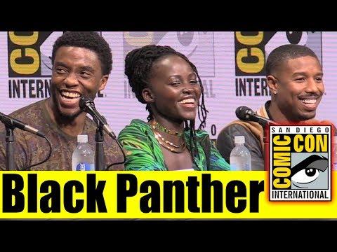 BLACK PANTHER  Comic Con 2017 Marvel Panel, , & Highlights Chadwick Boseman, Danai Gurira