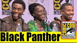 BLACK PANTHER | Comic Con 2017 Marvel Panel, News, & Highlights (Chadwick Boseman, Danai Gurira)