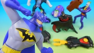 2015 batman unlimited set of 8 mcdonald s happy meal kids toys video review